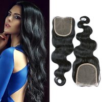 Wholesale 4x4in lace closure Black Color Human Hair Lace Closure Body Wave Style Swiss Lace Closure From quot to quot Unprocessed Human Hair Lace Closure