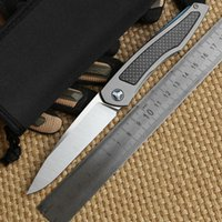 bear grey - Dicoria Piston separated ball bearing flipper Titanium Carbon Fiber handle S35vn blade Folding camping hunt outdoor pocket Knife EDC tools
