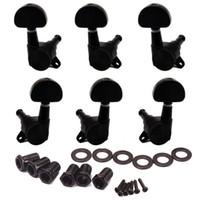 Wholesale Guitar Tuners Tuning Pegs Keys Machine Heads Trim Locking R3L with Big Oval Shape Tips Black Set of
