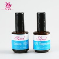 Wholesale UV Gel Nail Tools Builder For Crystal French Nail Effect Clear White Pink UV Topcoat Base Gel Nail DIY Gel