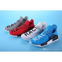 Wholesale Highly Anticipated Human Race Running Shoes Men Women Pharrell Williams Runner Boost Shoes Yellow Grey Black White Red Green Blue