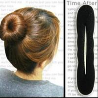 ball modeling tool - Sponge hair stick ball head head modeling tool Headwear Hairdo Hair Accessories Black Pratical Hairdo for girls Women Gifts set L144