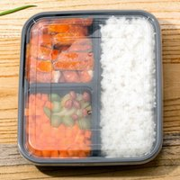 plastic lunch box - ML Disposable Lunch Boxes Snack Packing Boxes Microwaveable Bento Box Lancheira Tableware Food Container JH0055