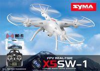 achat en gros de hélicoptère rc quad-100% Oraginal SYRA X5SW X5SW-1 WIFI Drone RC 2.4GHz 4CH Temps réel HD FPV Caméra Hélicoptères RC Drones 6 Axe Quadcopter Gyro Quad copter