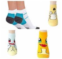 ball compression - Fashion Poke Ball Socks Pocket Monster Socks Pikachu Poke Go Socks adult Thermoskin FXT Plantar Compression Socks KKA689