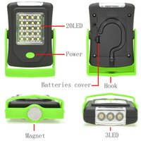 Wholesale LED Night Light Flashlight LED Torch Lantern Work Light Portable LED Lights Camping Bicycle Lamp With Built in Magnet Hook