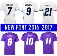 best new wines - Best quality Reals MADRIDES MEN ADULT SHIRT RONALDO BENZEMA bale new soccer home shirt Away KROOS Camisetas de Futbo