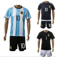 argentina away kit - 2016 Argentina Soccer Jerseys Shirts Sets Messi Aguero Higuain Tevez Lavezzi Di Maria Home Away Football Kits Soccer Uniforms Jersey