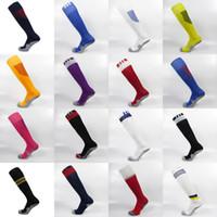 Wholesale season New Football club team soccer long tube home away anti slip socks thick soles