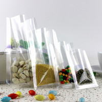 Wholesale High Quality Transparent Open Top Heat Sealing Food Storage Packaging Bag Clear Plastic Food Vacuum Candy Bags