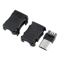 enchufe usb conector macho al por mayor-3 EN 1 MK5P Micro USB 5 Pin 5P T Puerto macho enchufe ConnectorPlastic caso de cubierta para DIY soldadura