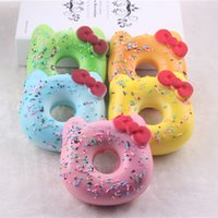 bagel bread - 30pcs cm simulation PU Hello Kitty pendant soft bread flavored bagel bakery kitty jewelry children s toys simulation food