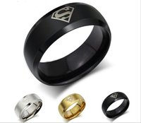 act retail - Retail pc Arrival Titanium steel Europe and the United States men s ring superman Band Ring act the role ofing