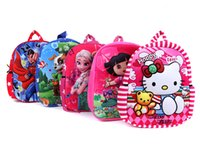 Wholesale Cartoon Bag New Cute Plush Backpack Child School Kid Boy and Girl Kinds Big Small Plush Bags XFB006