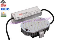 Wholesale street light pole mounted base e26 e39 e40 W led retrofit kit shoebox with driver meanwell