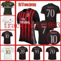Wholesale second Away Home AC Milan jerseys Shirt BACCA BERTOLACCI BONAVENTURA HONDA Wholesalers Italy League rugby jersey