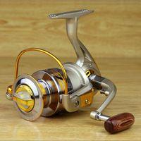 Wholesale Drop shipping Spool Aluminum Spinning Fly Fishing Reel Bait Casting EF1000 Saltwater Okuma Metal Front Drag Molinete Pesca waitingyou