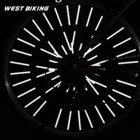 Wholesale 12 Bicycle Steel Rim Spokes Reflective Stripe Mountain Bike Circle Warning Strips Cycling Spoke