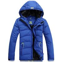 Wholesale Fall S XL High end Winter Branding Helly Hansen Heavy Keep Warm White Duck Down Jacket Coat Men s Down Jacket Coat Casual