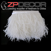 best decor - Top Exporting Factory ZPDECOR cm inch Best Quality Bleached Snow White Ostrich Feather Trim Sale for Wedding Decor