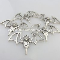 alloy bats - 19580 Vintage Silver Alloy Animal Bat Wings Pendant Jewelry Findings Craft