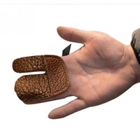 archery shooting tab - New Hunting Accessories Cow Leather Archery Glove Tab Bow Shooting Finger Guard Protection Pads