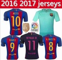 Wholesale Thailand Quality Barcelona Children s Jersey Home Away Shirt Camiseta Nemmar JR Messi Suarez A Iniesta Sport Shirt