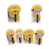 Wholesale 2017 Pet Brush for Dog and Cat deShedding Tool Grooming Yellow Long Hair Short Hair Expert deshedding Edge Designer