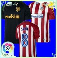 Wholesale DHL Soccer Jersey Griezmann Fernando Torres Camisetas de Futbol Koke Gabi Jackson Home Away Football Shirt Top Quality