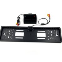 Wholesale New inch Foldable Digital TFT LCD Monitor European Led Car License Plate Frame Car Rear View Camera for Parking Assistance