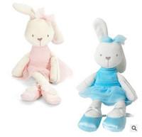al por mayor conejitos de dibujos animados-Mamas Papas Juguetes para bebés Conejo lindo comodidad durmiendo relleno muñeca Cartoon Bunny animales de peluche caliente juguetes para regalos de bebé