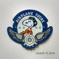airplane baby gifts - Snoopy Airplane Tours Pilot Collection Patch Shirt Trousers Vest Coat Skirt Bag Kids Gift Baby Decoration