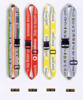 belt finder - Logo printing on CM polyester luggage belt suit bag belt with plastic buckle and adjust buckle