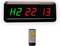 Wholesale EU LED Timer Boxing GYM Crossfit tabata EMOM interval Programmable Countdown UP stopwath Real time clock