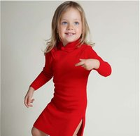 baby cheongsam - Girls cheongsam Dresses Chinoiserie Fashion Autumn Winter knit cotton Childrens Dresses Princess Baby Dress Kids Wear Lovekiss C29672