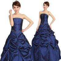 amazing marriage - Amazing Vestidos de Novias Robe de Marriage Royal Blue Organza Wedding Dress Pleat Crystal pearl Ball Gown by DHL