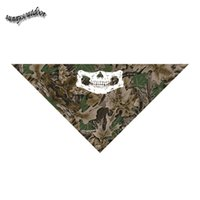 Wholesale Outdoor Airsoft Paintball Shooting Nature Pattern Tactical Airsoft Hunitng Skull Mask Bionic Camouflage Printing Triangle Scarf