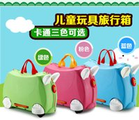 Wholesale Universal wheel travel suitcase cartoon inches pull Children travel luggage storage can be undertakes to pull on the rope bin baby toys