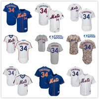 Wholesale 2016 NY Mets Noah Syndergaard Majestic New York MLB Baseball Jerseys White Orange Blue With Mr Mets Patch On Sale
