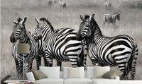 animal sounds zebra - Custom HD Plains Zebra in black and white D Wall Mural Photo Wallpaper decor Mural Animal world Wallpapers Kid s room Decor Wall art