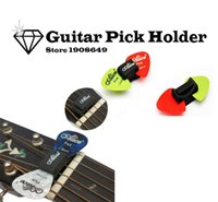 Wholesale 1pc New Guitar HeadStock Pick Holder Rubber FREE Picks Alice Guitar Picks pickup Musical Instrument GM167