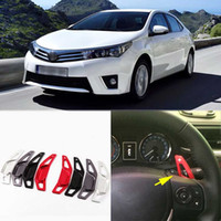 auto shifters - Auto parts Brand New High Quality Alloy Add On Steering Wheel DSG Paddle Shifters Extension For Toyota Corolla