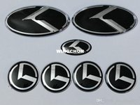 Wholesale 7pcs new black K logo badge emblem for KIA new Forte YD K3 car emblems D sticker