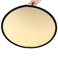 Wholesale amera Photo Photo Studio Accessories quot cm Handhold Multi Collapsible Portable Disc Light Reflector for Photography in1 Gold a