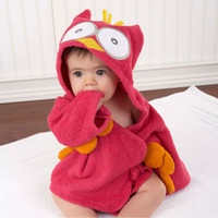 Wholesale New Hot Good Selling Y Babys Children Kids Cute Lovely Cartoon Absorbent Cotton Bathrobe Robe