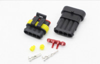 amp connector kit - 5 Sets Kit Pin Way AMP Connectors Waterproof Electrical Wire Connector DJ7041 male and female Automobile Connector