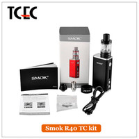 Wholesale Original SMOK R40 W Starter Kit mAh TC Box Mod ml Micro Basick Tank Support SS NI200 TI WIRE vs H priv kit