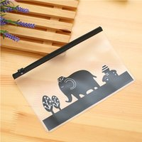Wholesale Pieces Korea stationery lovely cute animals creative edge PVC envelope to receive bag translucent folder