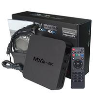 Wholesale Android MXQ K Smart TV Boxes RK3229 Quad core KODI TV H K tps Support HD Media Player Remote Control