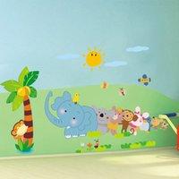 bears game live - Kids Wall Decal quot Cute Elephant Monkey Bear Play Game quot Nursery Kindergarten Wall Decor17 in cm Wall Sticker